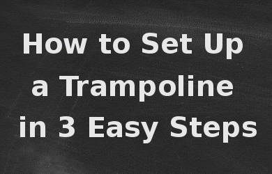 3 Essential Tips For Proper Trampoline Care And Maintenance